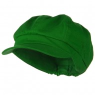 Cotton Elastic Newsboy Cap-Lime
