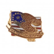 Cloisonne Enamel Military Pins - Bear Arms