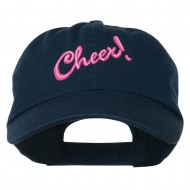 Cheer Embroidered Pet Spun Washed Cap - Navy