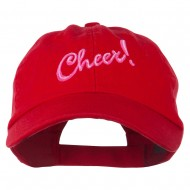 Cheer Embroidered Pet Spun Washed Cap - Red
