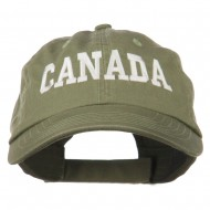 Canada Embroidered Low Profile Pet Spun Washed Cap - Olive