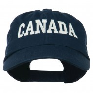 Canada Embroidered Low Profile Pet Spun Washed Cap - Navy