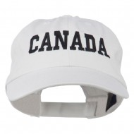 Canada Embroidered Low Profile Pet Spun Washed Cap - White