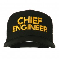 Chief Engineer Embroidered Twill Mesh Cap - Black