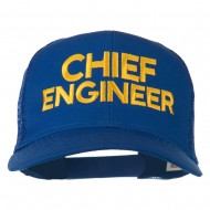 Chief Engineer Embroidered Twill Mesh Cap - Royal