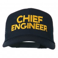 Chief Engineer Embroidered Twill Mesh Cap - Navy