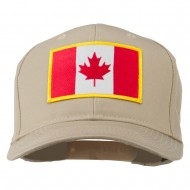 Canada Flag Embroidered Patch Cap - Khaki