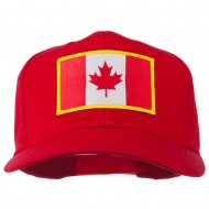 Canada Flag Embroidered Patch Cap - Red