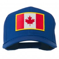 Canada Flag Embroidered Patch Cap - Royal