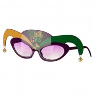 Mardi Gras Clown Glasses - Green Purple
