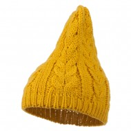 Acrylic Cable Design Beanie Hat - Mustard