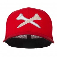 Crossed Golf Tees Embroidered Trucker Cap - Red