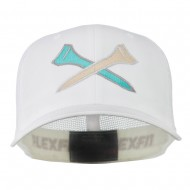 Crossed Golf Tees Embroidered Trucker Cap - White