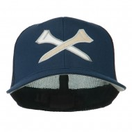Crossed Golf Tees Embroidered Trucker Cap - Navy