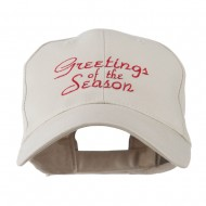 Christmas Greetings of the Season Embroidered Cap - Stone