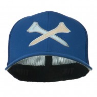 Crossed Golf Tees Embroidered Trucker Cap - Royal
