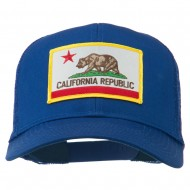 California State Flag Patched Twill Mesh Cap - Royal