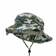 Camouflage Washed Hunting Hat - Blue Camo