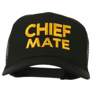 Chief Mate Embroidered Mesh Cap - Black