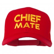 Chief Mate Embroidered Mesh Cap - Red