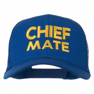 Chief Mate Embroidered Mesh Cap - Royal