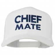 Chief Mate Embroidered Mesh Cap - White