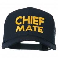 Chief Mate Embroidered Mesh Cap - Navy