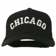 Chicago Illinois State Embroidered Cotton Cap - Black
