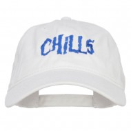 Chills Embroidered Washed Cap - White