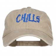 Chills Embroidered Washed Cap - Khaki