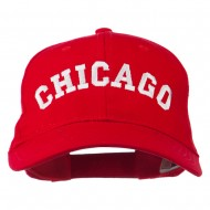 Chicago Illinois State Embroidered Cotton Cap - Red