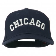 Chicago Illinois State Embroidered Cotton Cap - Navy