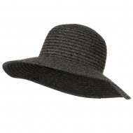 Chenille Hat with Sequins - Grey