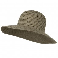 Chenille Hat with Sequins - Taupe