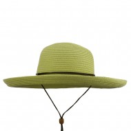UPF 50+ Cotton Paper Braid Kettle Brim Hat - Lt Green