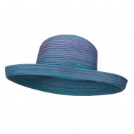 UPF 40+ Color Braid Roll Up Hat - Blue