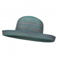 UPF 40+ Color Braid Roll Up Hat - Green