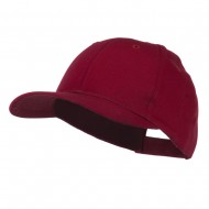 6 Panel Constructed Twill Cap - Maroon
