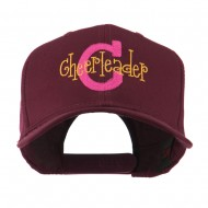 Logo C with Cheerleader Words Embroidered Cap - Maroon