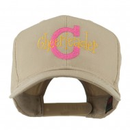 Logo C with Cheerleader Words Embroidered Cap - Khaki