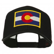 Colorado Western State Embroidered Patched Mesh Back Cap - Black