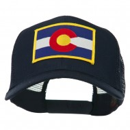 Colorado Western State Embroidered Patched Mesh Back Cap - Navy