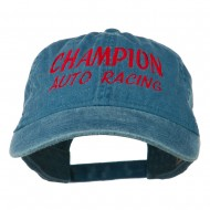 Champion Auto Racing Embroidered Washed Cap - Navy