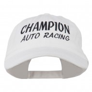 Champion Auto Racing Embroidered Washed Cap - White