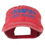 Champion Auto Racing Embroidered Washed Cap - Red