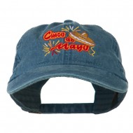 Cinco De Mayo Embroidered Washed Cap - Navy