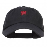 Mini 100 Percent Embroidered Low Cap - Black