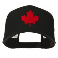 Canada's Maple Leaf Embroidered Mesh Back Cap - Black