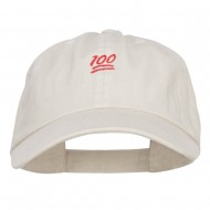 Mini 100 Percent Embroidered Low Cap - Putty