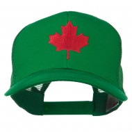 Canada's Maple Leaf Embroidered Mesh Back Cap - Kelly